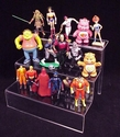 Deluxe Clear 3-Stair Toy / Action Figure Display Shelves