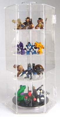 Acrylic Locking Display Cases With Rotating Shelves