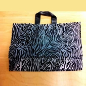Soft Loop Handle Frosted Bag Zebra Print