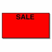 Tamper Resistant Red Sale Labels