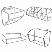 Slatwall Acrylic Display Trays and Bins