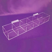 Slatwall Acrylic Large Open Top Bin Tray