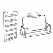 Slatwall Acrylic Business Card Holders