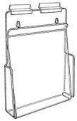 Slatwall Acrylic Brochure Holder with Hold-Down Flap