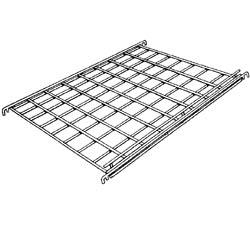 24in.W x 24in.D Straight Gridwall Shelf w/ Front Lip