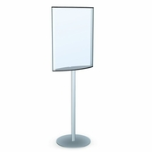 Poll Standing Convex Poster Sign Holder