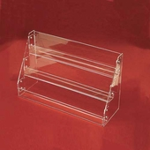 Acrylic Tilted-Rack Card Displays