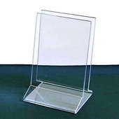 Acrylic Double-Sign Holder