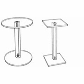 Acrylic Barbell Style Risers