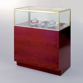 60in. Quarter Vision Jewelry Display Case