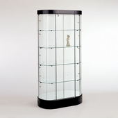Oval Tower Display Case