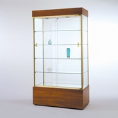Quick Ship 40in. Rectangular Wall Display Case with Bottom Cabinet