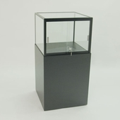 Quick Ship Square Pedestal Top Display Case