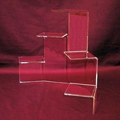 Acrylic Five-Tiered Platform Risers