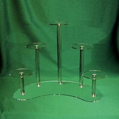 Acrylic Semi-Circle Base Risers