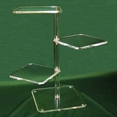 Acrylic Beveled Three Shelf Displays & Towers