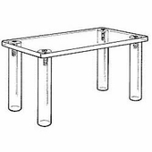 Acrylic Countertop Rectangular Tables