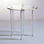 Acrylic Countertop Round Table