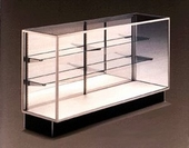 Extra Vision Display Case with Wood Doors