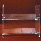 Acrylic Clip-together Two Shelf Unit