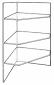 Acrylic Corner Shelf Unit