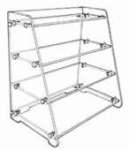 Acrylic Angled Flat Shelf Unit