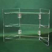 Acrylic Folding Three Shelf Unit