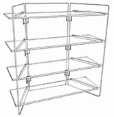 Acrylic Folding Four Shelf Unit