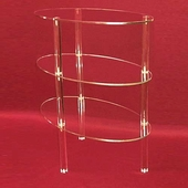 Acrylic Oval Shelf Unit