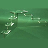 Acrylic Medium Mini-Platform Stairs