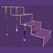 Acrylic Tall Four-Step Stairs