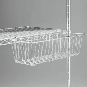 wire display baskets for wire shelving units box of 10. Black Bedroom Furniture Sets. Home Design Ideas