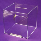 Acrylic Cube-Style Locking Collection/Ballot Box