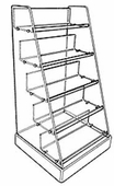 Acrylic Stairstep Shelf Unit