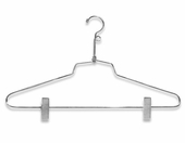 Wire Combination Hanger w/Clips and Loop Hook (Box Qty.)