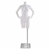 Female Fiberglass Torso Form w/Hands on Hips