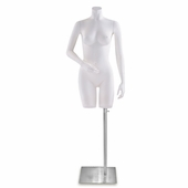 Ladies Fiberglass Torso Form w/Right Arm Bent and Left Arm Straight