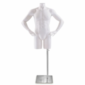 Men's Fiberglass Torso Form w/Hands on Hips