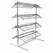 Shoe Rack 8 Shelf Chrome