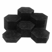 Black Velvet Hexagonal Display Set