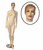 Female Mannequin w/Arms by Side and Left Leg Forward