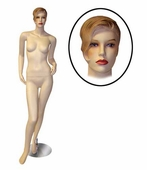 Female Mannequin w/Left Arm Bent and Right Leg Forward
