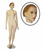 Female Mannequin w/Arms by Side and Head Turned To Side