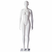 Female Mannequin With Sculpted Head With Straight Legs and Arms