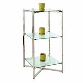 37in.H Folding Glass Tower