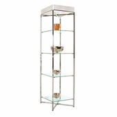 68in.H Folding Glass Tower