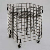 Wire Grid Dump Bin 24 inch Square Black