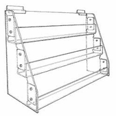 Gridwall Acrylic 3-Tier Card Racks & Trays