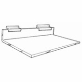Gridwall Acrylic Straight Shelves without Braces