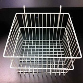 Gridwall Basket 12 x 12 x 8 White (Box of 12)